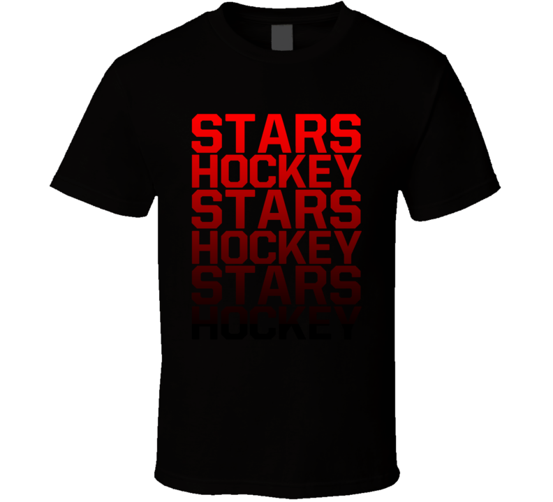 Stars Hockey Team Name Gradient Fan T Shirt