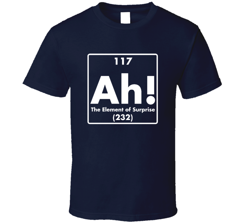 Ah! The Element Of Surprise Funny Geek T Shirt