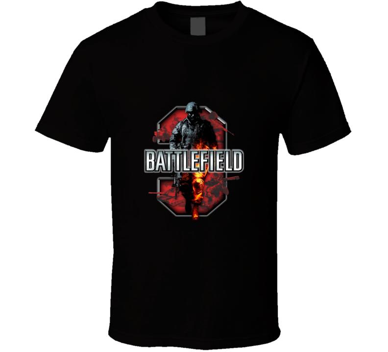 Battlefield 3 Logo Video Game T Shirt