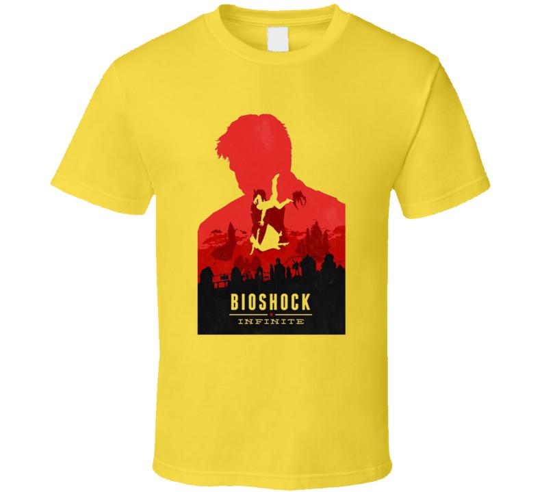 Bioshock Infinite Booker DeWitt Video Game T Shirt