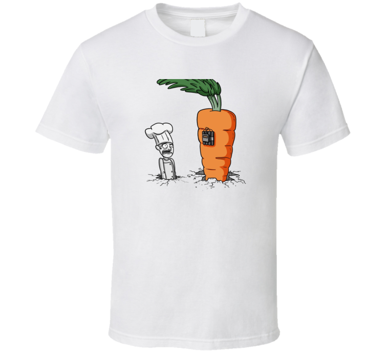 Chef and Carrot Dynamite Funny T Shirt