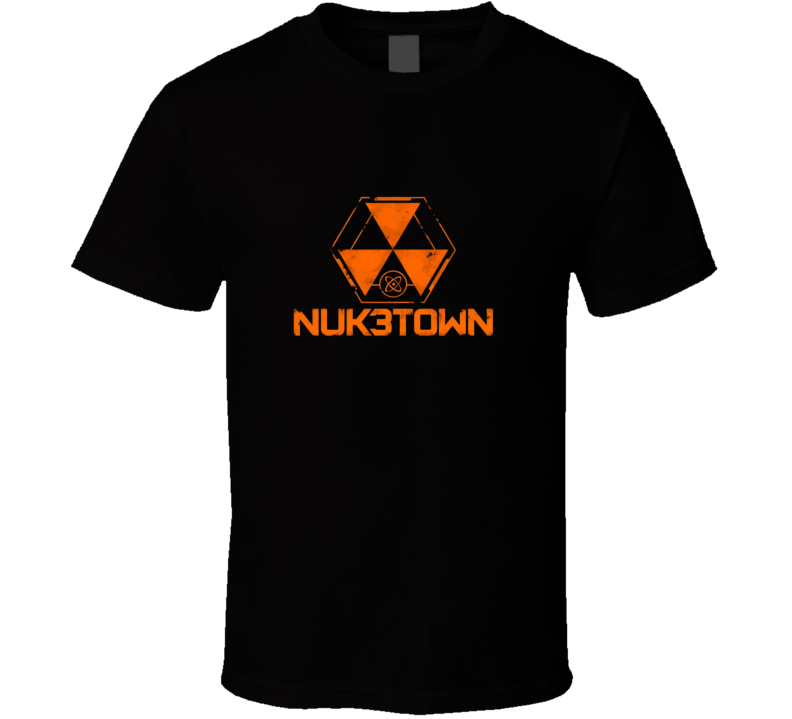 Call Of Duty Black Ops Nuketown Logo Video Game T Shirt