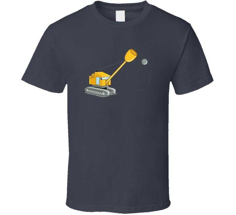 Construction Fun Cup & Ball Funny T Shirt