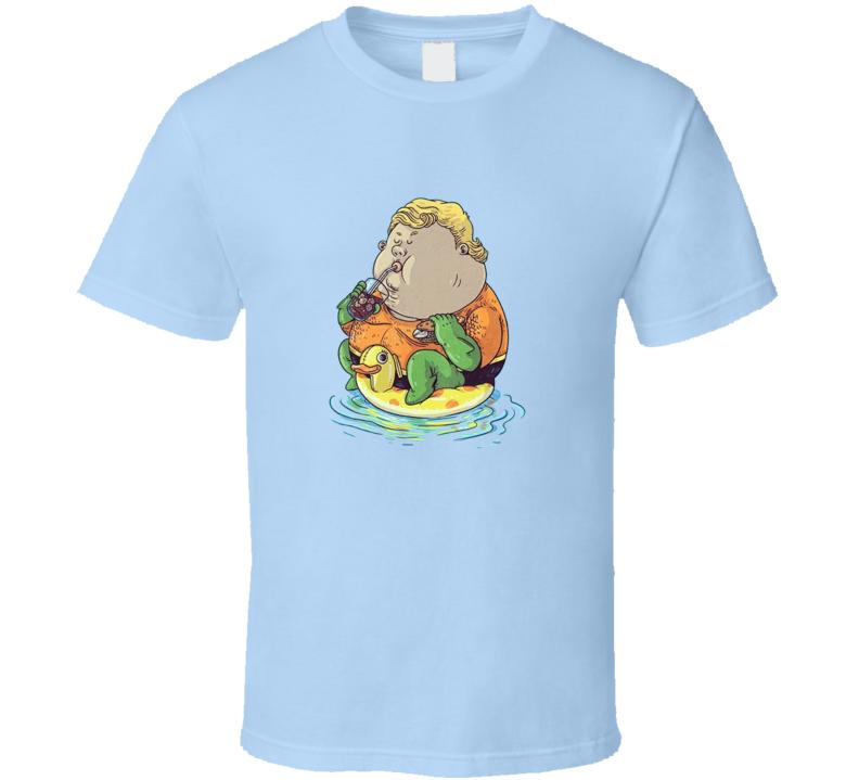 Fat Aquaman DC Superhero T Shirt