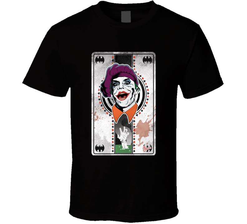 Batman Joker Playing Card DC Supervillain Movie T Shirt