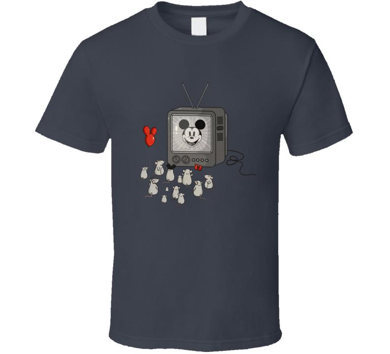 Mickey Mouse Mice Watching TV Cartoon T Shirt