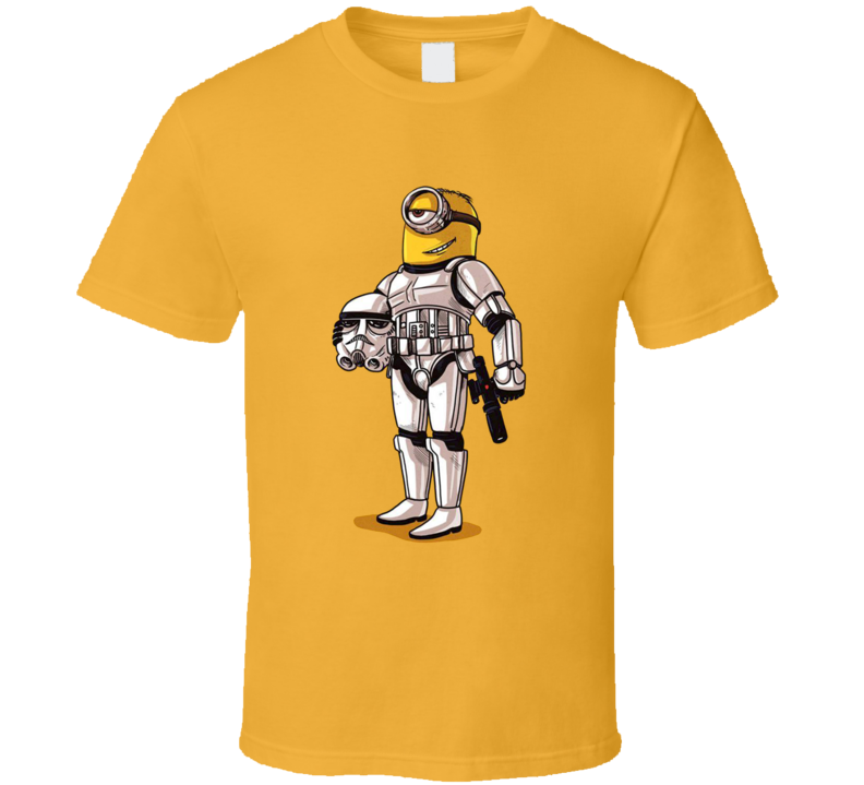 Minion Gru Stormtrooper Star Wars True Identity Funny Cartoon T Shirt