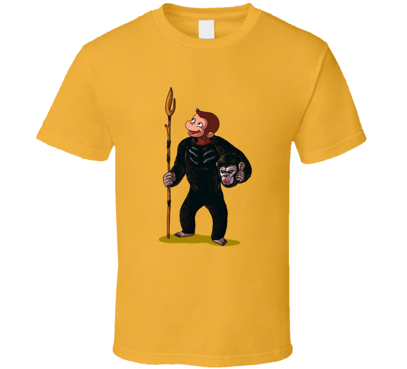 Curious George Planet Of The Apes True Identity Funny Cartoon T Shirt