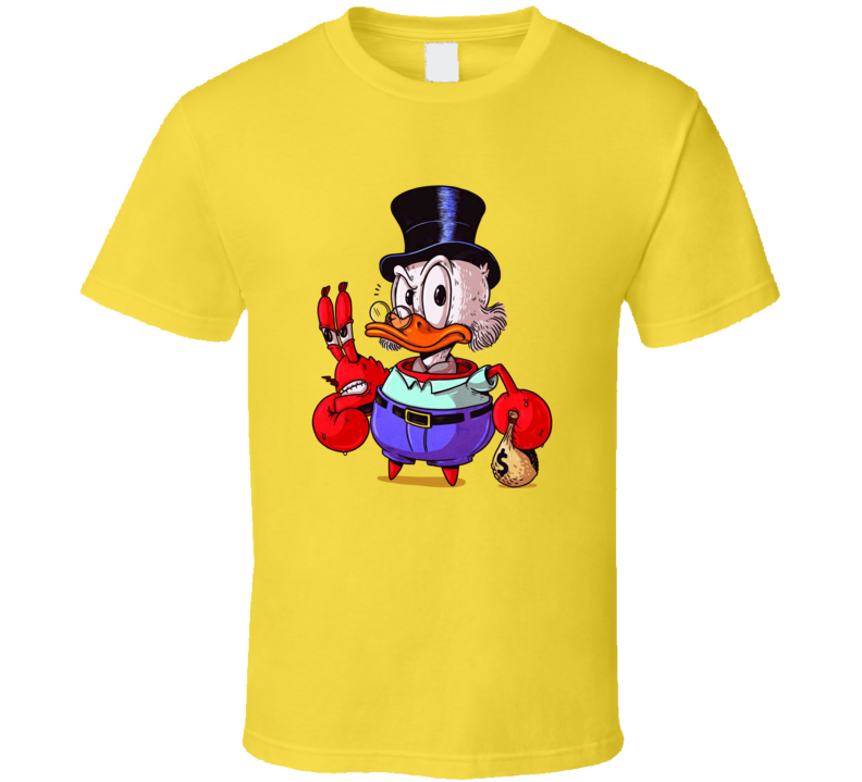 Mr Krabs Scrooge McDuck True Identity Funny Cartoon T Shirt