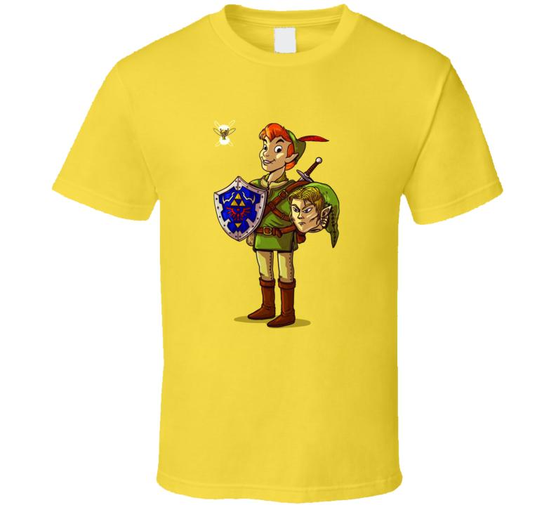 Peter Pan Link Zelda True Identity Funny Cartoon T Shirt