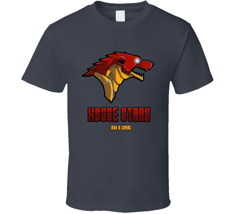 Game Of Thrones House Stark Iron Man Parody TV Show T Shirt
