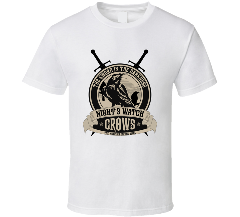 Game Of Thrones The Night's Watch Crows Alternate  TV Show T Shirt