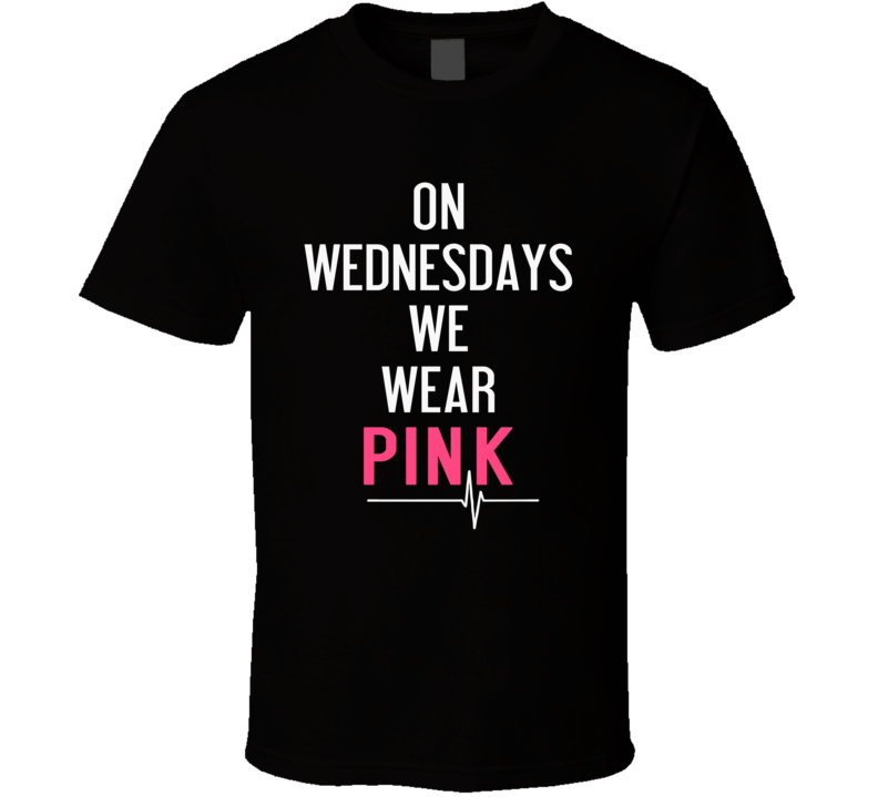 On Wednesday We Wear Pink Fashion T Shirt