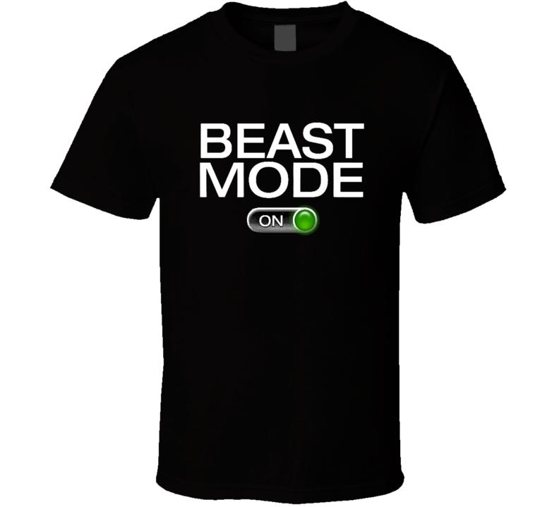 Beast Mode On Fitness Gym Geek T Shirt