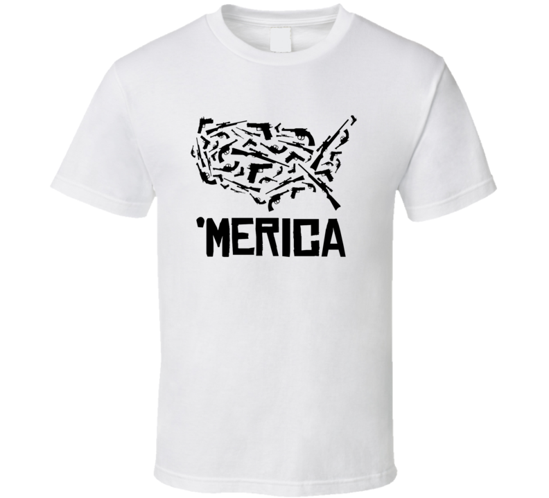 America Right To Bare Arms Guns Patriotic NRA T Shirt