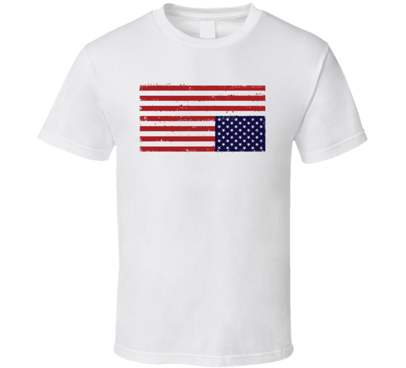 USA Flag Upside Down House Of Cards T Shirt