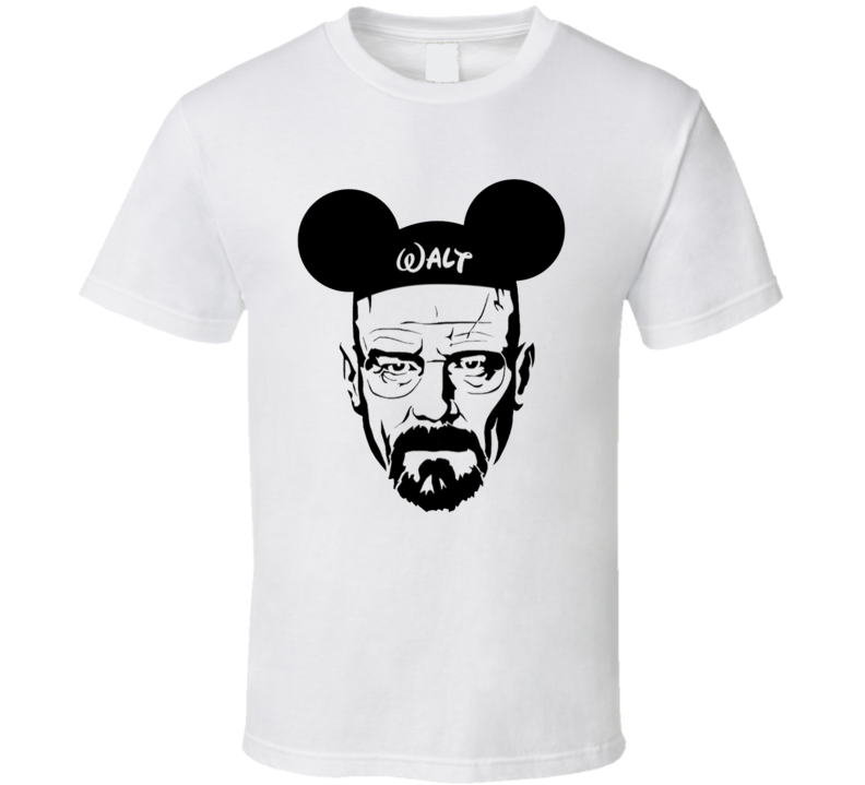 Walter White Heisenberg Breaking Bad Walt Disney Parody T Shirt