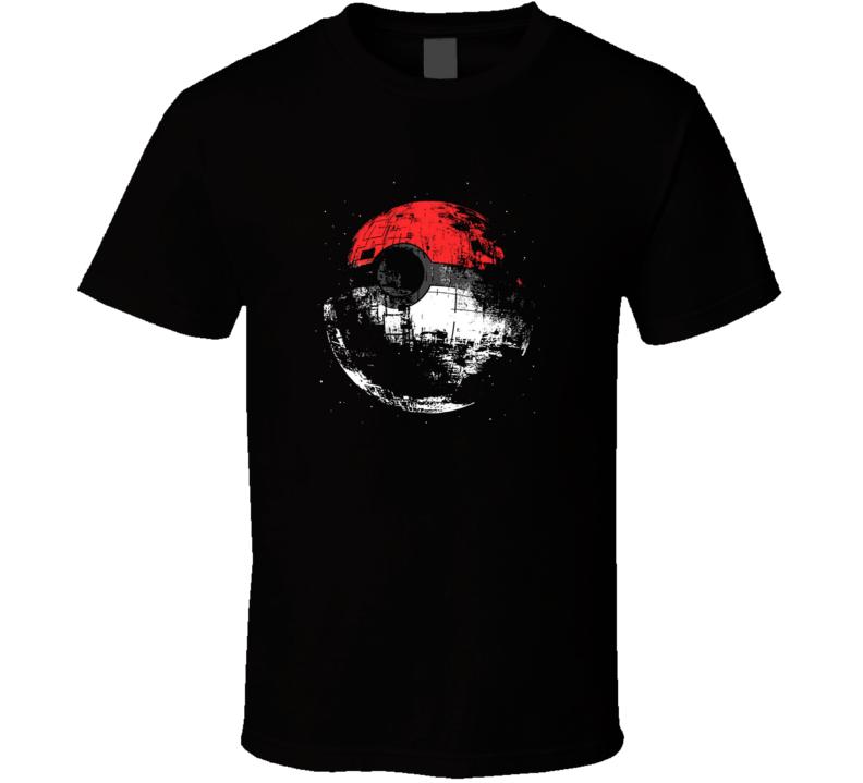Pokemon Death Star Star Wars Parody Video Game T Shirt
