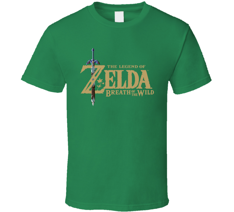 The Legend Of Zelda Breath Of The Wild Logo Video Game T Shirt