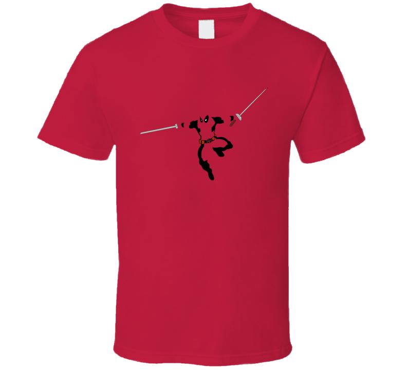 Deadpool with Swords Movie Marvel Comic Book T Shirt