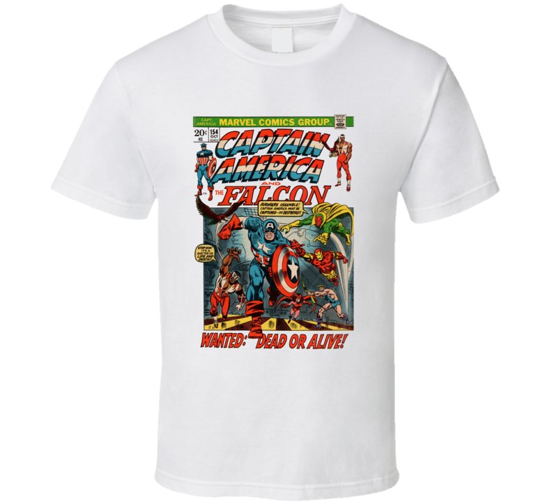 Captain America And The Falcon Comic Book Cover Marvel Geek T Shirt