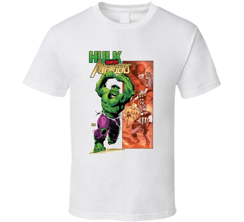 Hulk Vs The Avengers Comic Book Cover Marvel Geek T Shirt