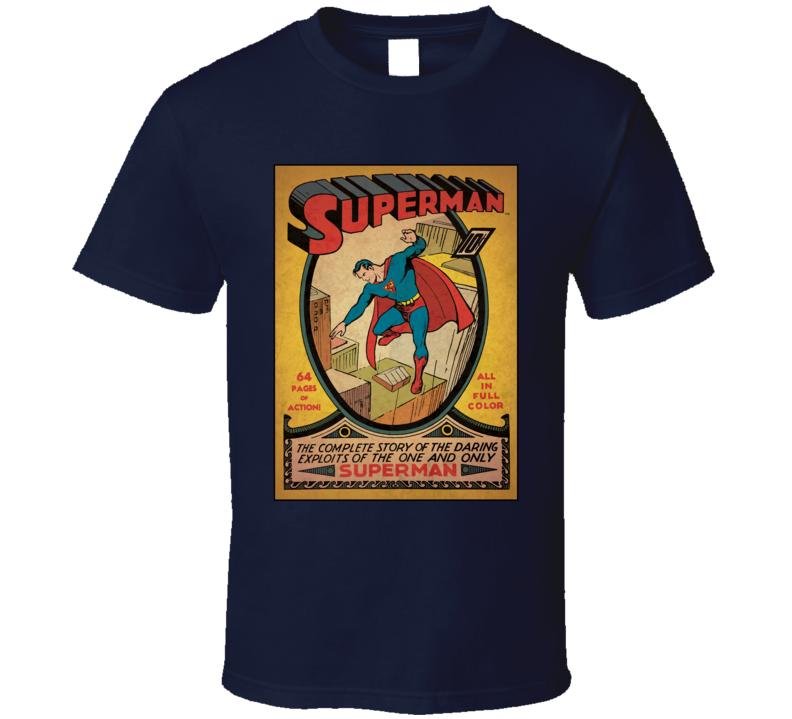 Superman #1 Comic Book Cover DC Geek T Shirt