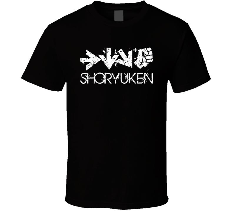 Shoryuken Street Fighter Ken Ryu Uppercut Video Game T Shirt