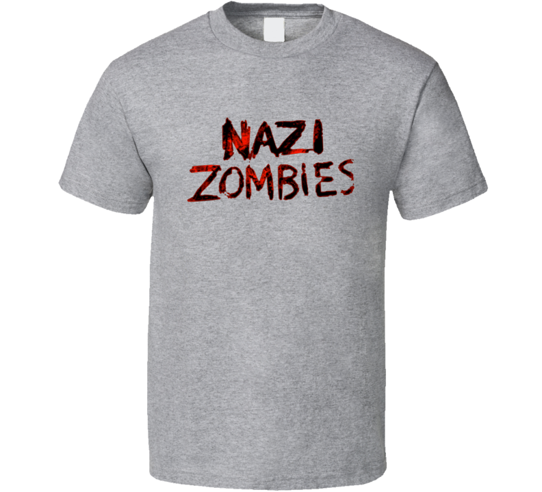 Nazi Zombies Call Of Duty World At War Video Game T Shirt