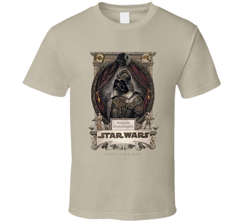 Star Wars William Shakespeare Parody Funny Movie T Shirt