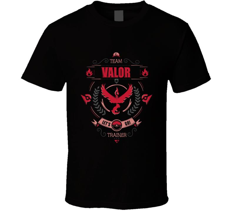 Pokemon Go Team Valor Trainer T Shirt