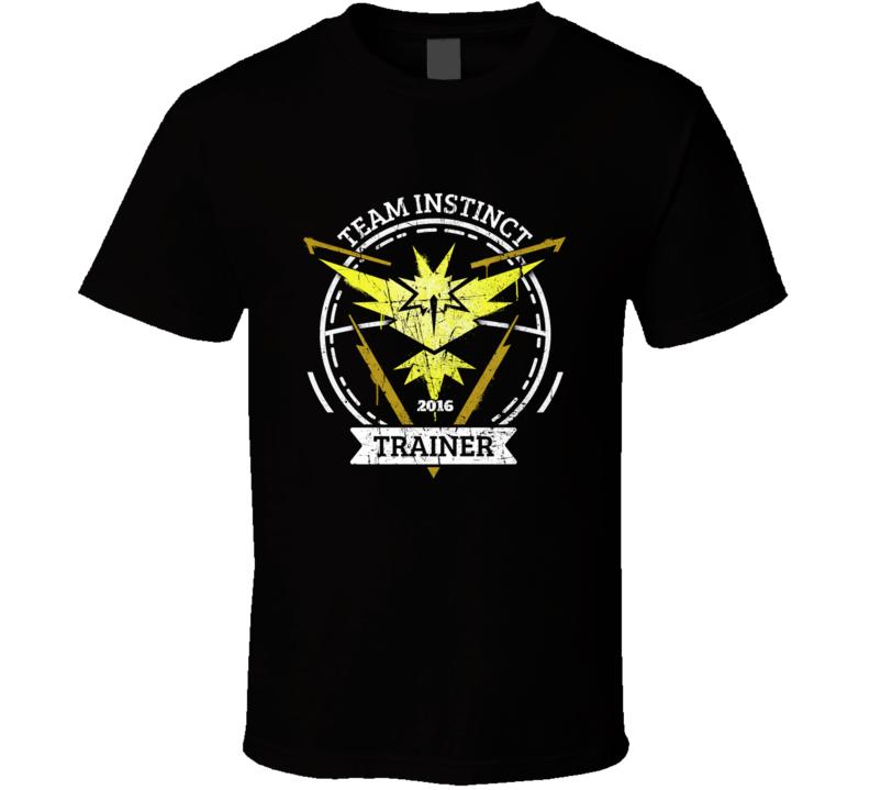 Pokemon Go Team Instinct Trainer T Shirt