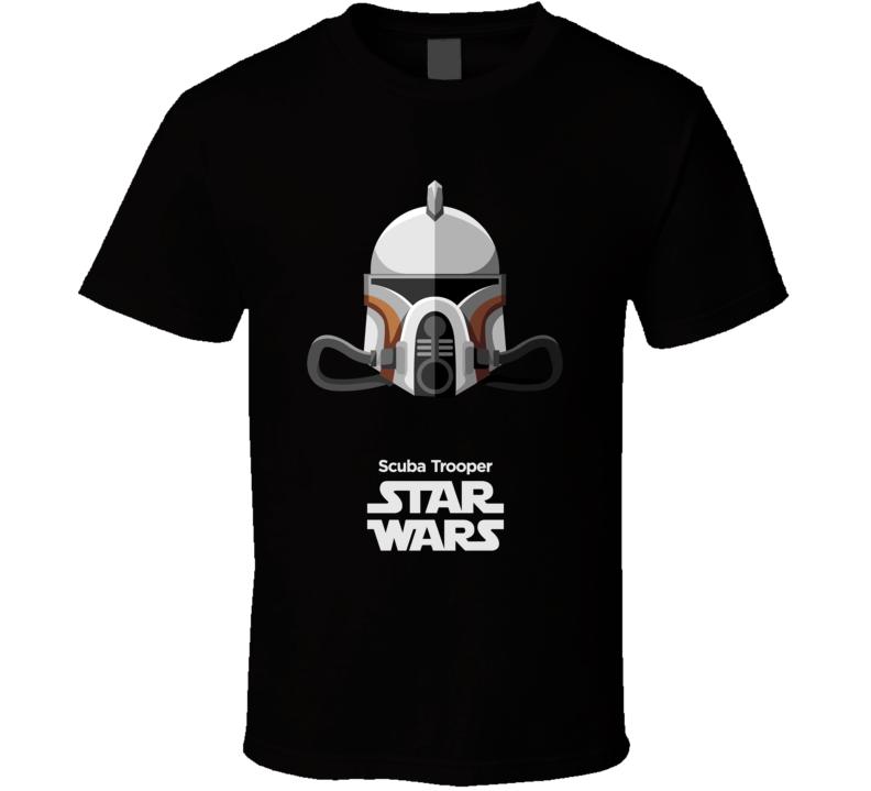 Scuba Trooper Stormtrooper T Shirt Star Wars Movie