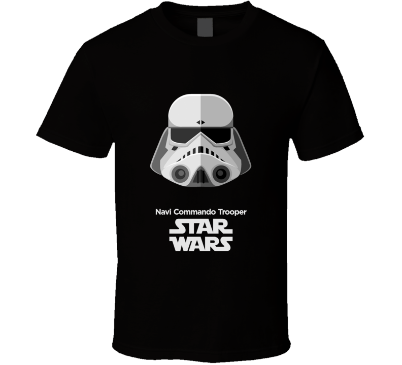 Navi Commando Trooper  Stormtrooper T Shirt Star Wars Movie