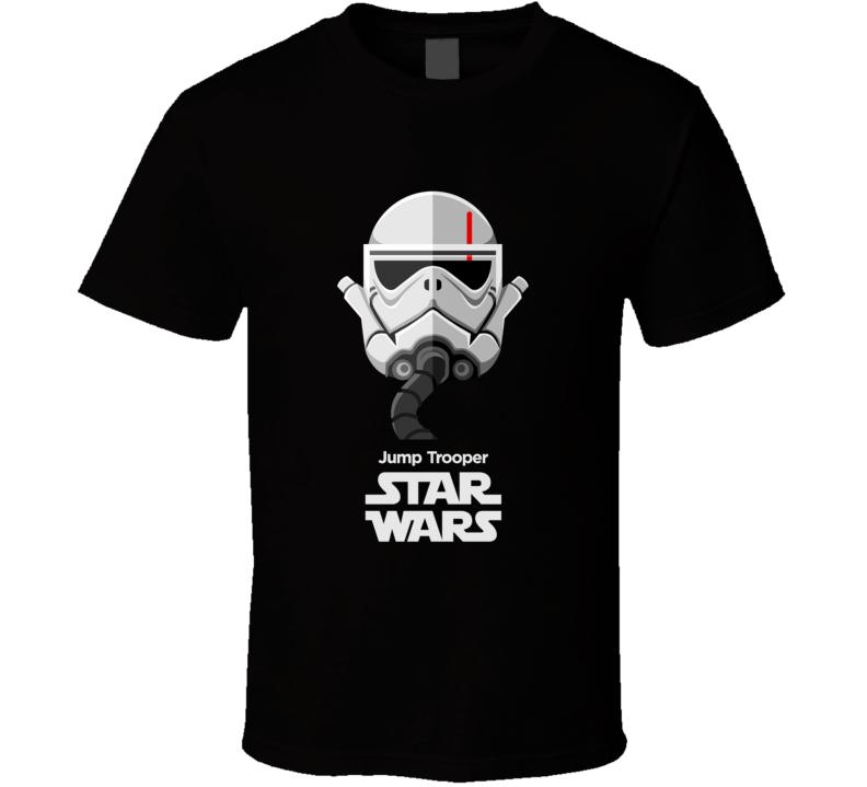 Jump Trooper  Stormtrooper T Shirt Star Wars Movie