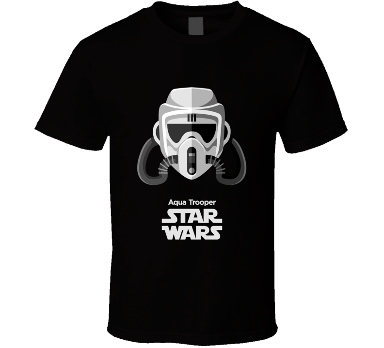 Aqua Trooper Stormtrooper T Shirt Star Wars Movie