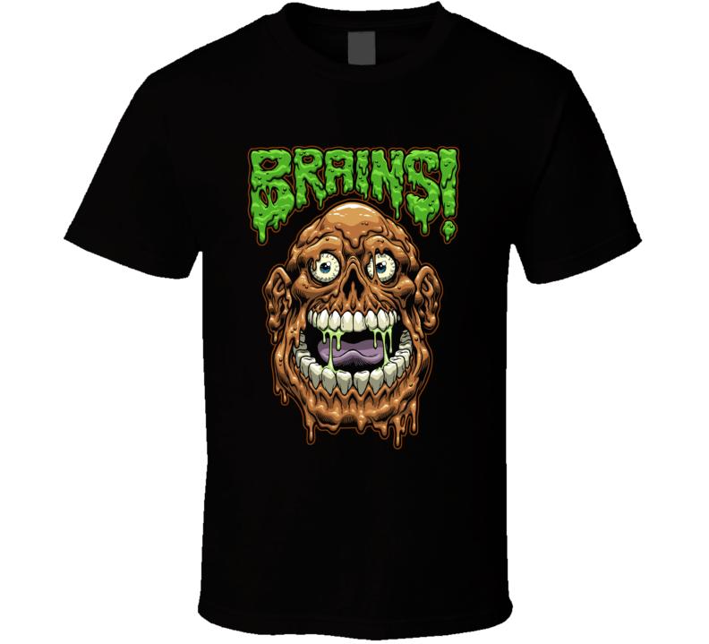 Brains Halloween T Shirt
