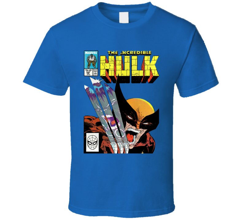 Hulk and Wolverine Comic Book Cover T Shirt