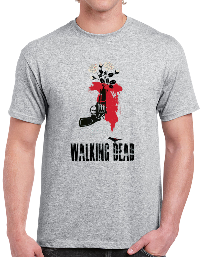 The Walking Dead Gun T Shirt