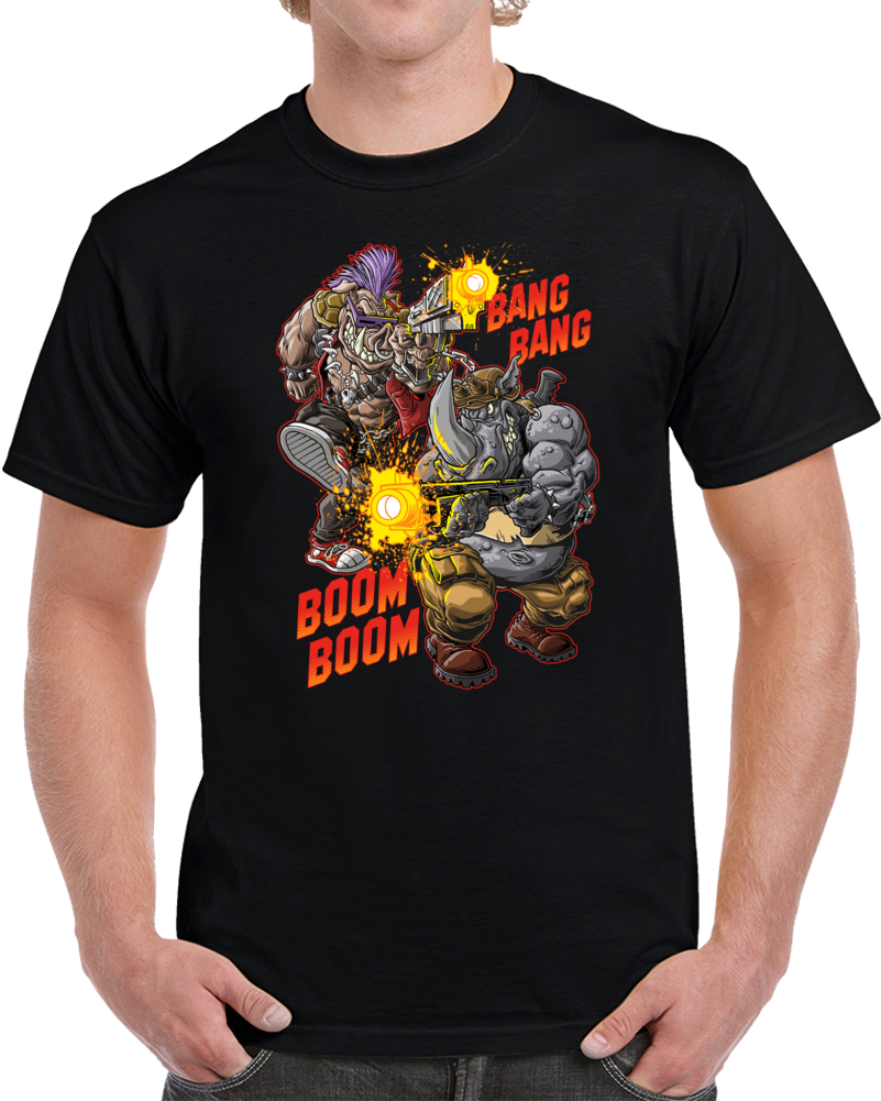 Beebop And Rocksteady Ninja Turtles T Shirt
