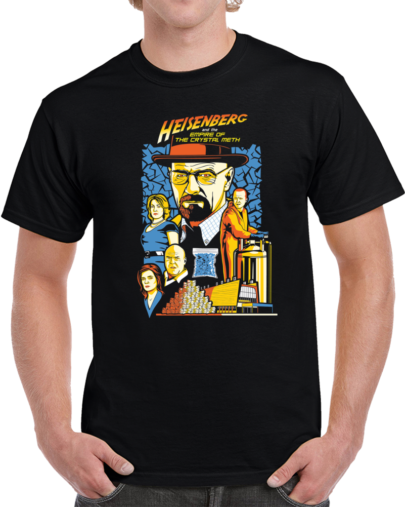 Heisnberg Breaking Bad Indiana Jones Parody T Shirt