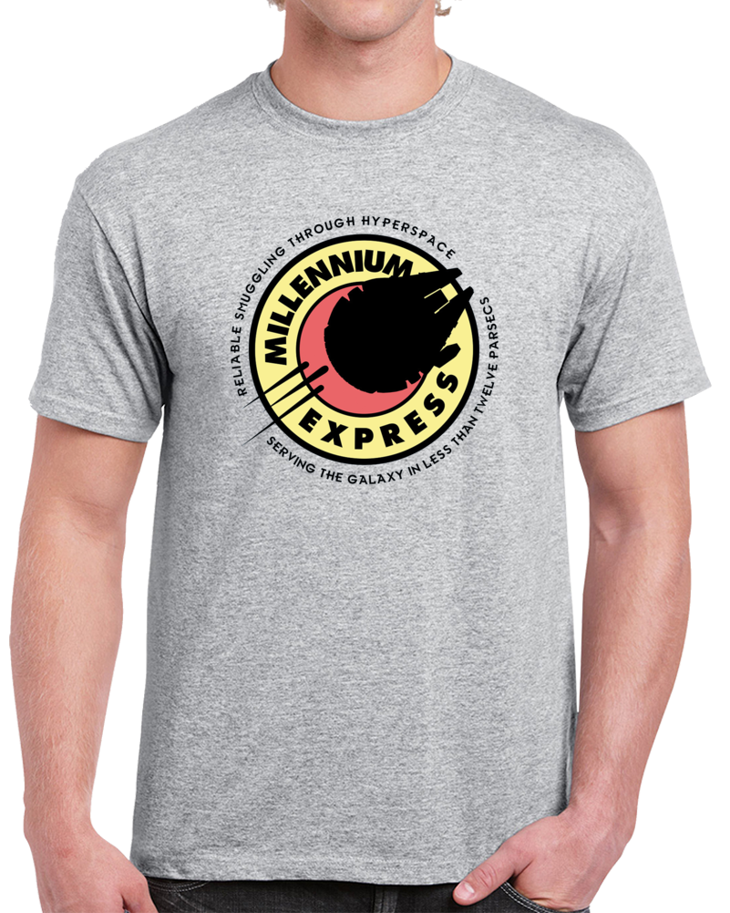 Millennium Express Star Wars Parody T Shirt