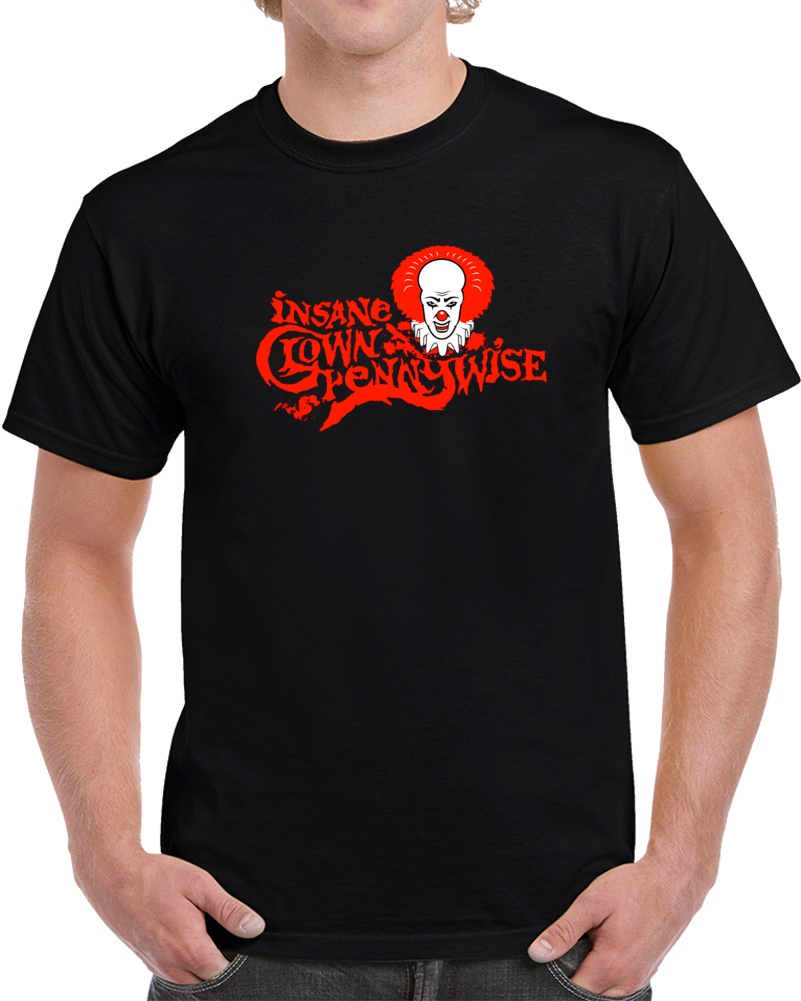 Insane Clown Pennywise It Movie T Shirt