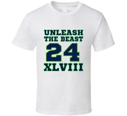 Unleash the Beast Marshawn Lynch Seattle Seahawks Superbowl T Shirt