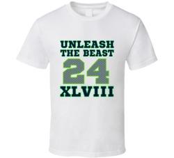 Unleash the Beast Marshawn Lynch Seattle Seahawks Superbowl T-Shirt