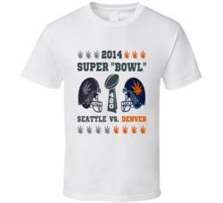 "2014 Super Marijuana ""Bowl"" Legalization Seattle Denver Football T Shirt"