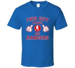 This Guy Loves Her New York Rangers Hockey T Shirt