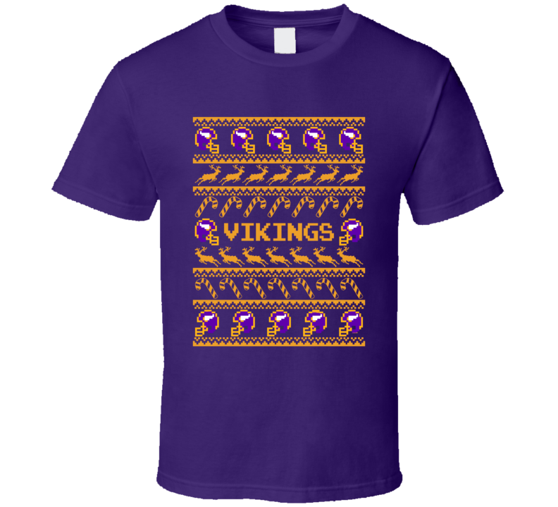 Vikings  Christmas Ugly Sweater T Shirt