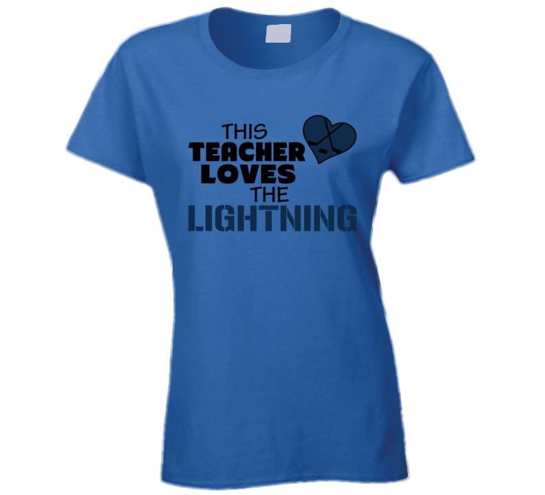 This Teacher Loves The Lightning Hockey T Shirt