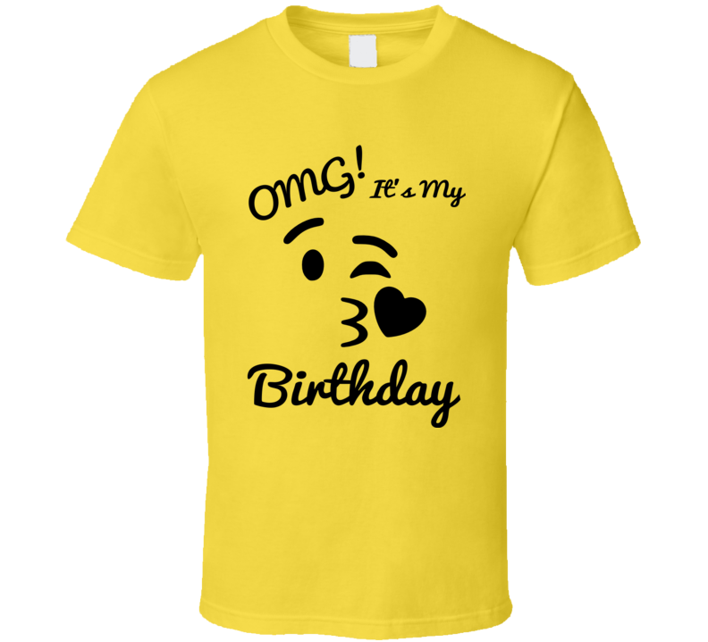 OMG It's My Birthday Emoji T Shirt